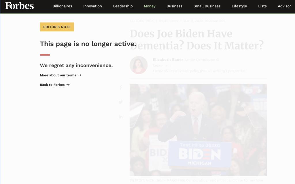 Rich results on Google's SERP when searching for 'Joe Biden'
